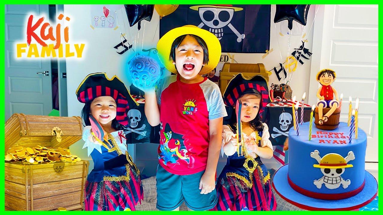Ryan's 9th Happy Birthday Surprise hunting for treasure!!