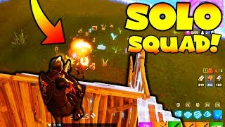 MY BEST SOLO SQUAD GAME!! (Fortnite Battle Royale)