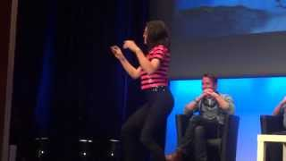 Lana Parrilla dancing at the Fairy Tales Convention