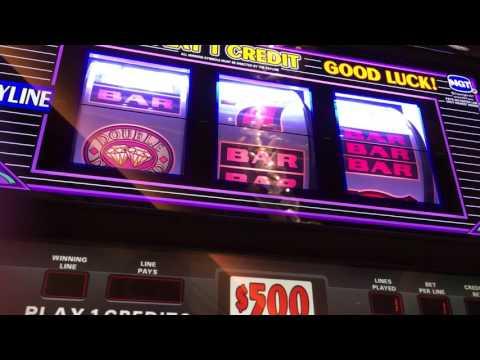 500 dollar slot play (jackpot hand pay) Seminole hard rock