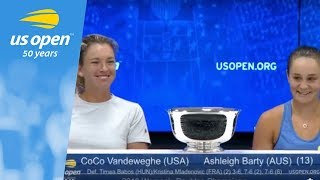 2018 US Open Press Conference: CoCo Vandeweghe & Ashleigh Barty