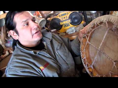 How to Make a Native Hand Drum - YouTube