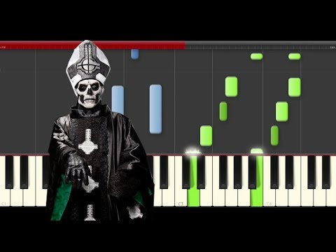 Ghost Monstrance Clock piano midi tutorial cover sheet partitura cover how to play
