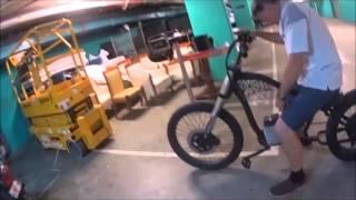 Black E-bike Chopper sale vid