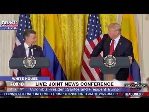 FULL: President Trump And Colombian President Juan Manuel Santos PRESS CONFERENCE at White House