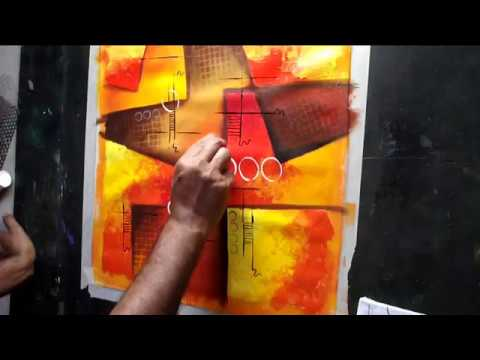 How to make abstract painting by Sunil Chawdiker #54