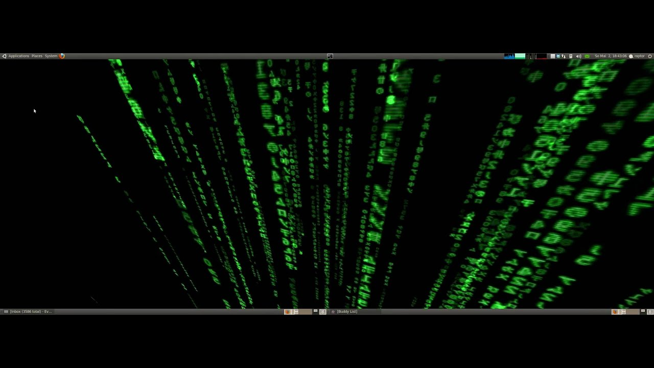 Matrix Live Wallpaper with XWinWrap - YouTube