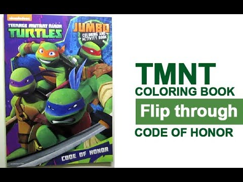 teenage mutant ninja turtles coloring book flip through code of honor tmnt - Teenage Mutant Ninja Turtles Coloring Book