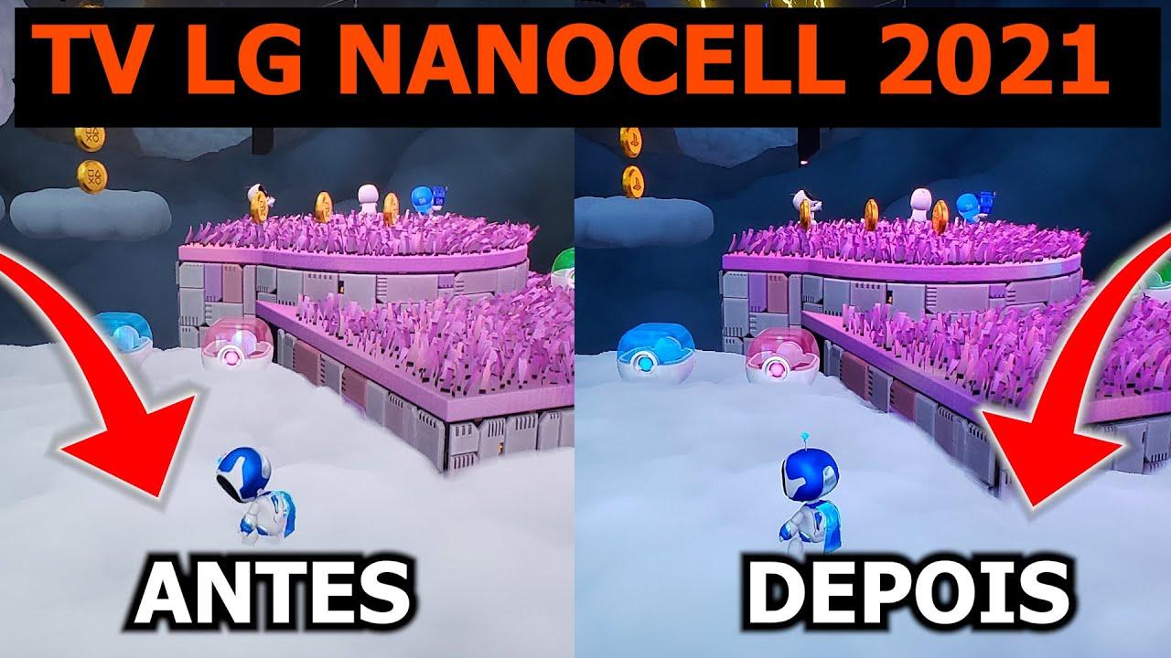 TV NANOCELL NANO85 2021  - Calibrando para GAMES!
