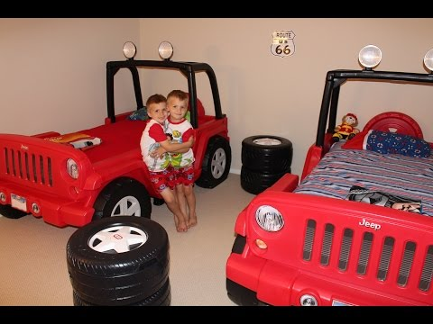 Thumbnail: Twins New Little Tikes Jeep Beds!