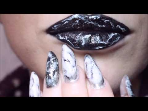 Alexandra Violeta Makeup Marble Lips Buze Pictate Efect Marmura