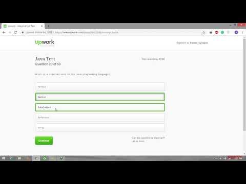 Upwork Java Test 2019