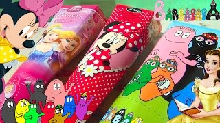 3 Surprise Toys Pack! Barbapapa, Disney Princess, Minnie! Lots of toys and gadgets! Unboxing!