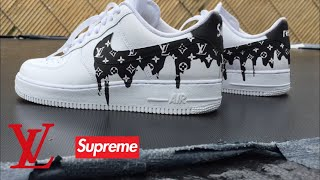 Louis Vuitton Drippy custom Nike Air Force 1 custom