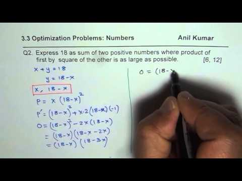 Optimization Sum of Numbers Where Product of one with Square of Other is Maximum