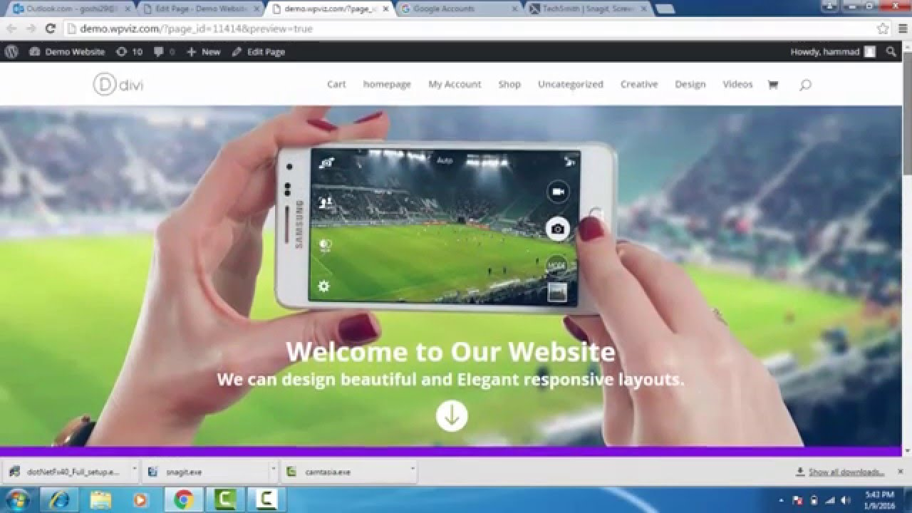 How to create full width header in divi theme - YouTube