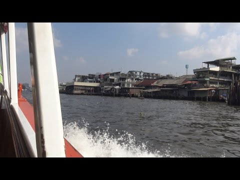 Chao Phraya River - Public Boat Journey, Bangkok, Thailand