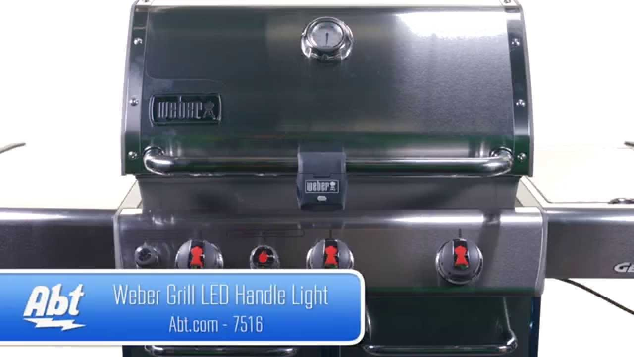 Weber grill led handle light 7516 overview youtube aloadofball Choice Image