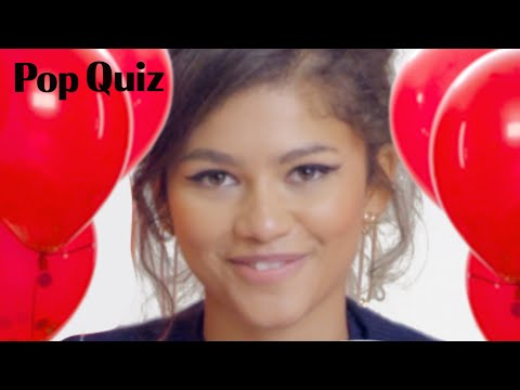 Zendaya Plays a Game of Pop Quiz | Marie Claire