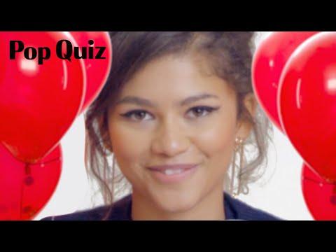 Zendaya Plays a Game of Pop Quiz  Marie Claire