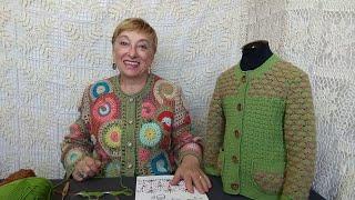 """Вязание крючком для детей от О.С. Литвиной. Кофточка """"Лизонька"""". Схема и описание вязания."""