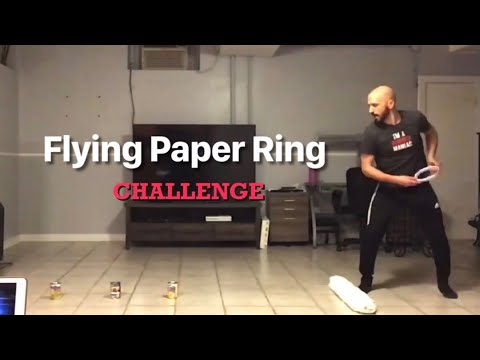 "PE At Home: ""Flying Paper Ring"" Challenge"