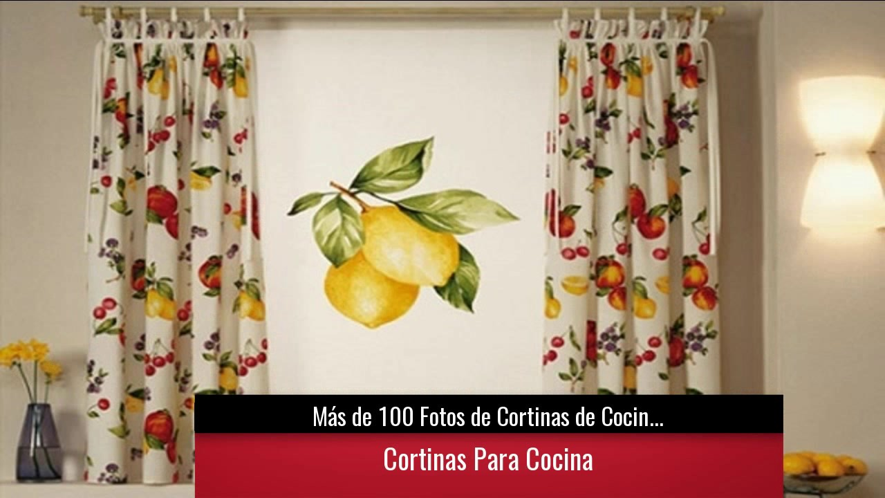 De 100 fotos de cortinas de cocina modernas youtube for Decoracion cortinas para cocina
