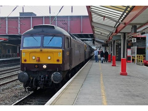 Railtours & Test Train at Crewe Station 14/3/2015
