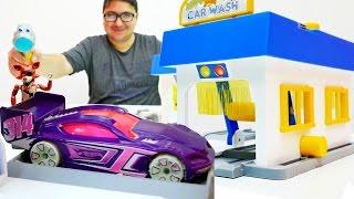 #Arabaoyunu Toy Master: Erdem ile oto yıkama. Canavar araba parçalıyor.  🇹🇷 Türkçe izle!