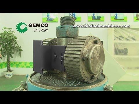 Wood pellet machine for homemade pellets production