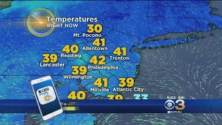 Wednesday's Evening Weather Forecast - 40 Hours Above 50°