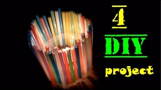4 DIY Projects With Drinking Straws - 4 NEW Amazing Drinking Straw Crafts and Recycle Project