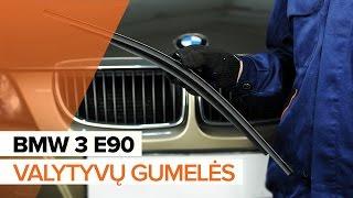 Kaip pakeisti Priekinių valytyvų gumelės BMW 3 E90 PAMOKA | AUTODOC