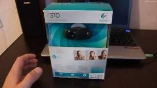 Logitech HD Webcam C310. Распаковка веб камеры из коробки.