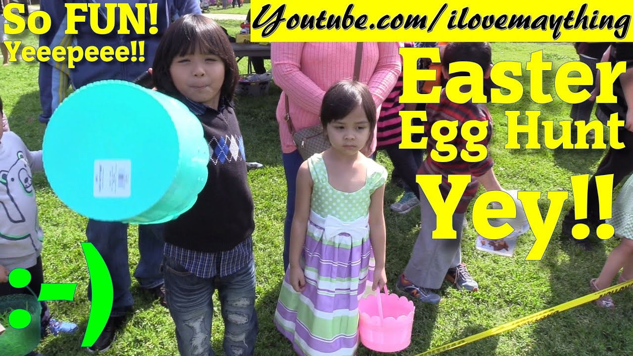 Fun Outdoor Family Activity Easter Egg Hunt Day Kid Bounce