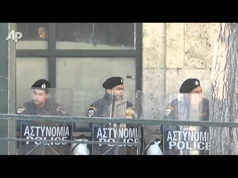 Raw Video: Day Two of Large Greek Protests