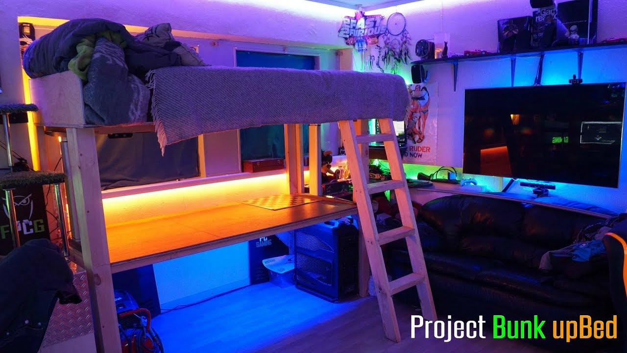 Project bunk bed build log ultimate room setup youtube How to make a gaming setup in your room