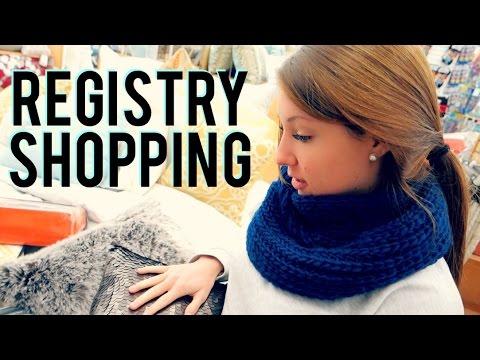 WEDDING REGISTRY SHOPPING! - YouTube