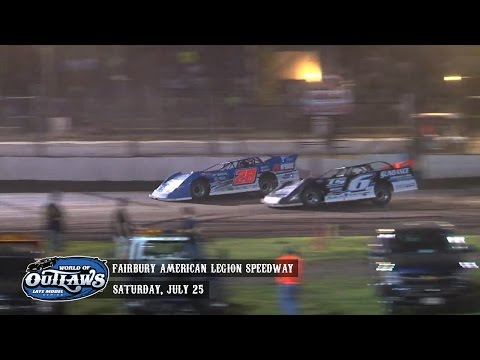 Highlights: World of Outlaws Late Model Series Fairbury American Legion Speedway July 25th, 2015