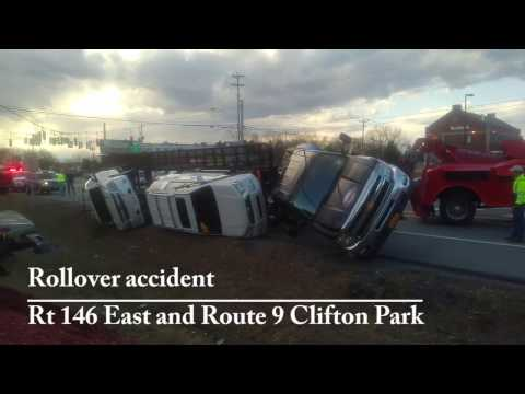 Rollover Rt 146 Rt 9 Clifton Park - March 8, 2017 - YouTube