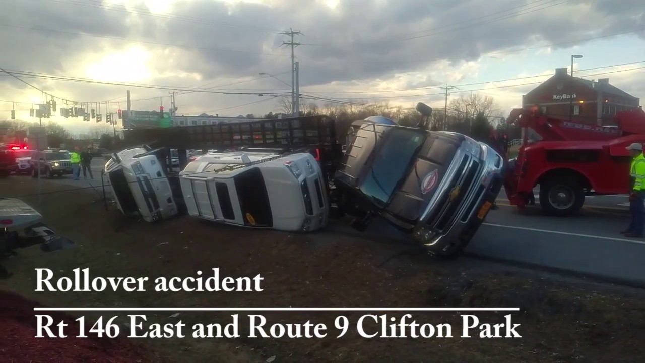Rollover Rt 146 Rt 9 Clifton Park March 8 2017 Youtube