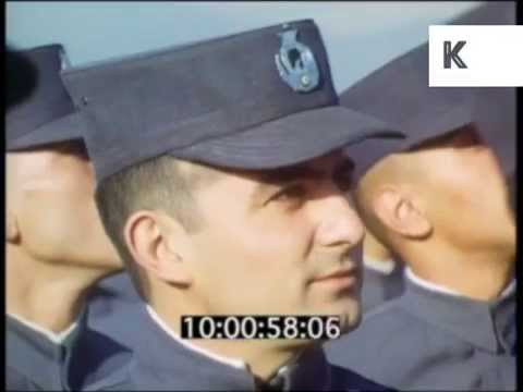 1970s Iran, Military, Air Force Exercises, Phantom Jet, 35mm Archive Footage