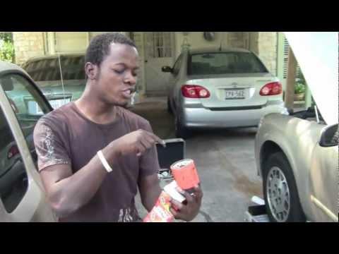 [Yves Husan]  In Swahili . Explains how to change car oil  (Congo Fundi)