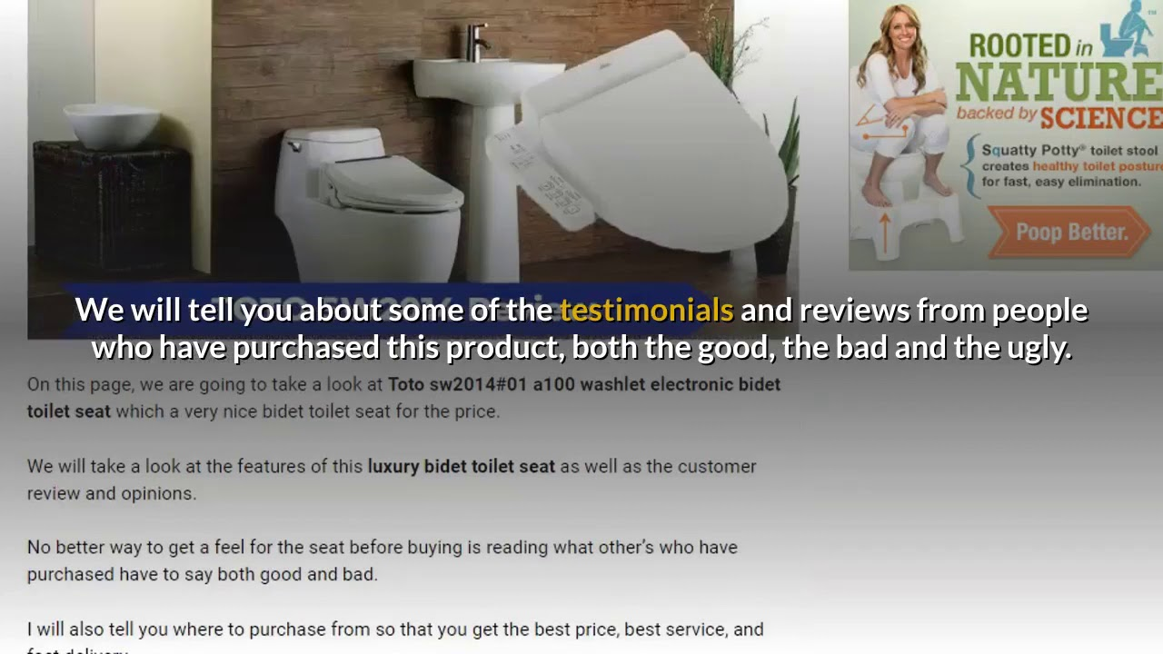 Overview Of The Toto Washlet A100 Bidet Toilet Seat Review Youtube