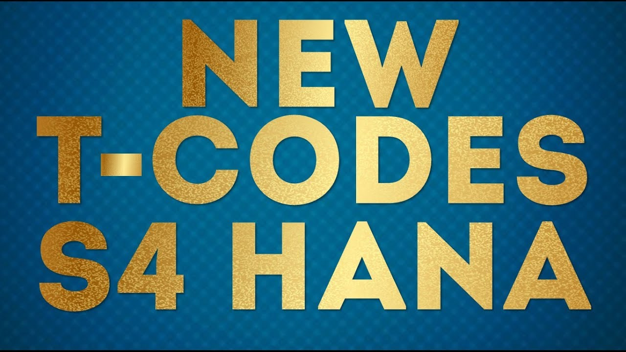 S/4 HANA NEW TCODES | What T-Codes are obsolete in S4 HANA?