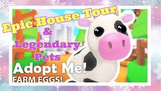 Roblox Adopt Me House Tour And Legendary Pets | Bella Mix Christmas Vlogmas