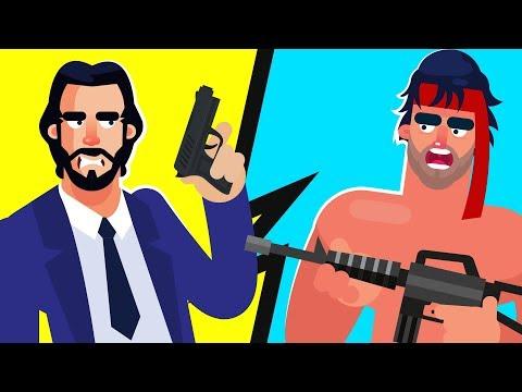 JOHN WICK vs RAMBO – WHO WOULD WIN? (RAMBO LAST BLOOD MOVIE & JOHN WICK MOVIE)