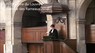Prédication sur les Rameaux 2019