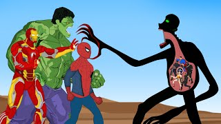 Superheroes VS CORONAVIRUS Fusion SCP 096 Attack   SUPER HEROES MOVIE ANIMATION