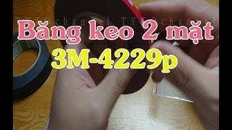 So sánh Băng keo 2 mặt 3M mã 4229p với băng keo thường